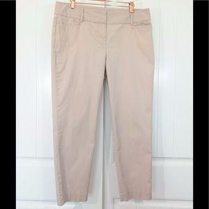 LOFT Original ankle size 10 khaki tan pants